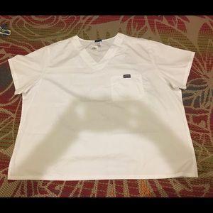 Cherokee NWT women's plus scrubs top white 3XL